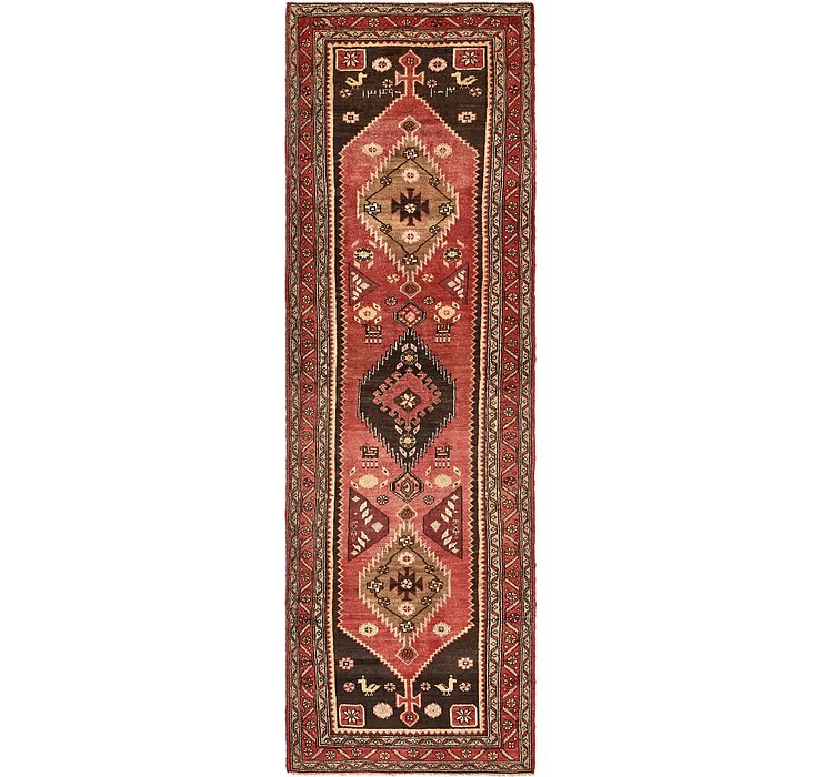 3' 8 x 12' 3 Khamseh Persian Runner ...