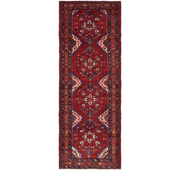3' 9 x 10' 10 Khamseh Persian Runner ...