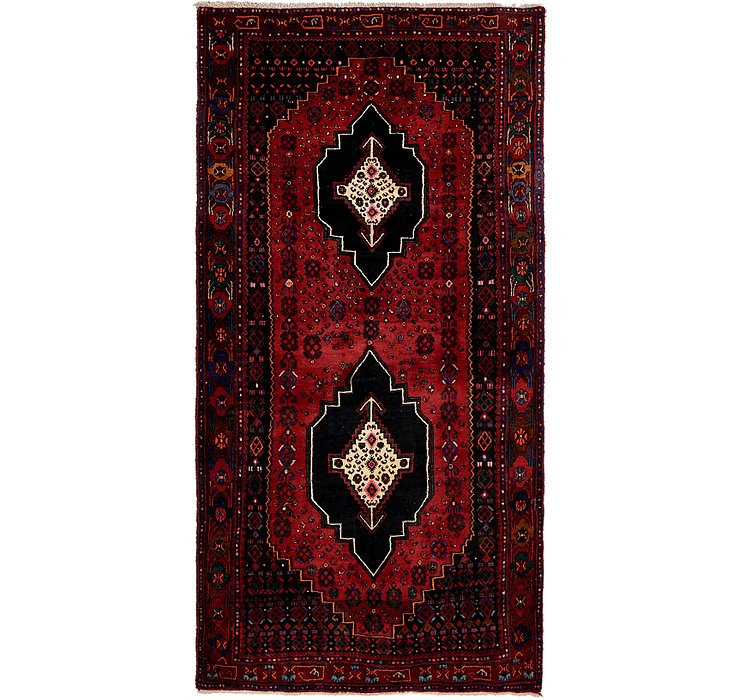 4' 8 x 9' Sanandaj Persian Runner...