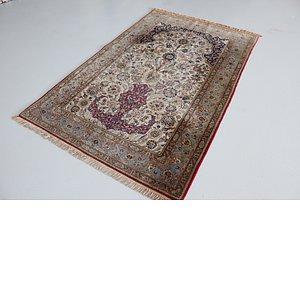 4' 6 x 7' 1 Kashan Persian Rug
