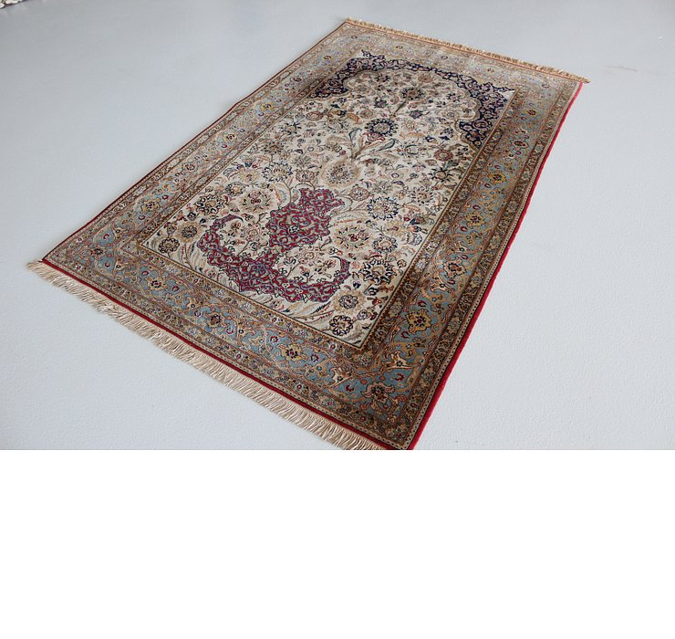 4' 6 x 7' 1 Qom Persian Rug