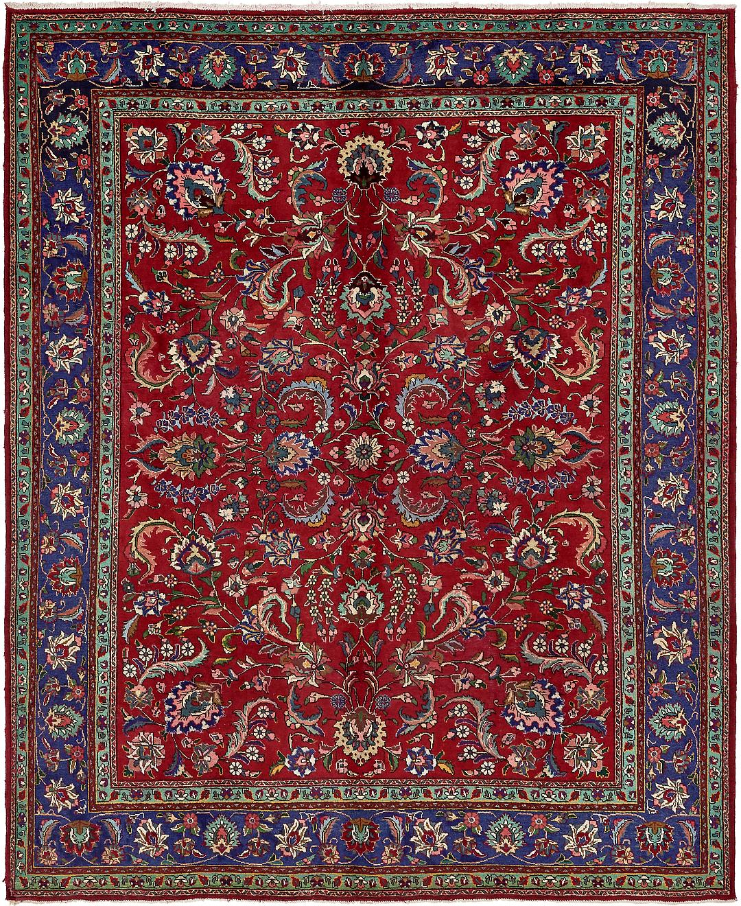 Persian Rugs From Iran: Red 10' 4 X 12' 9 Tabriz Persian Rug