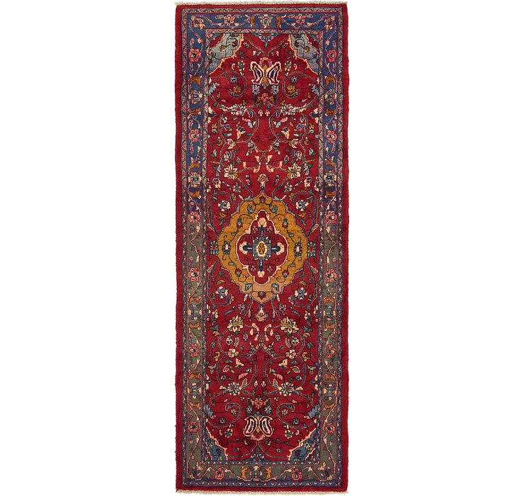 HandKnotted 3' 8 x 10' 3 Hamedan Persian Runner ...