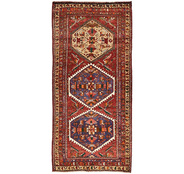 3' 11 x 8' 7 Gholtogh Persian Runner...