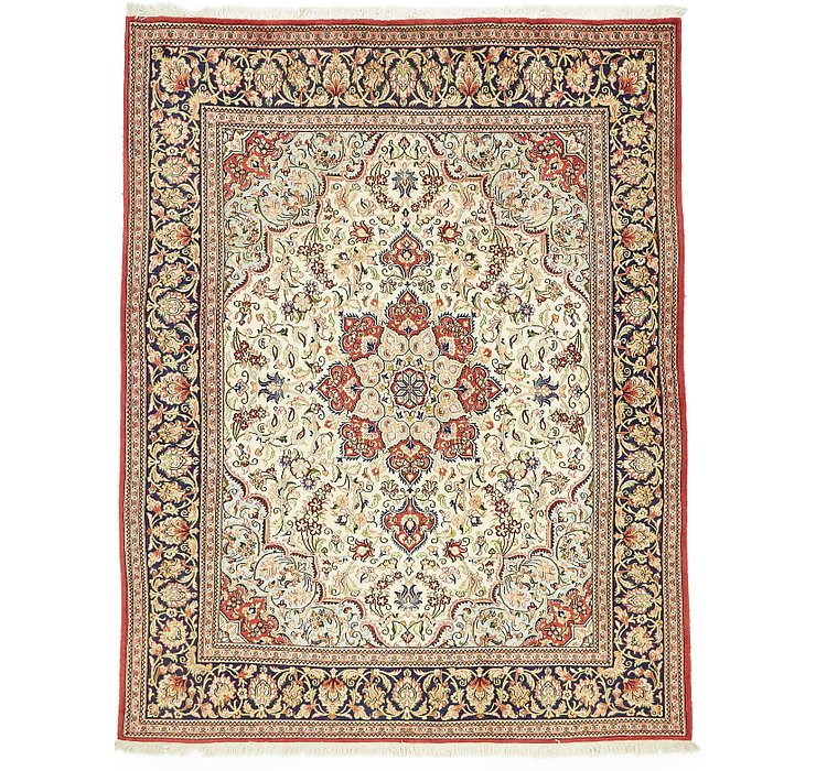 6' 4 x 8' 1 Qom Persian Rug