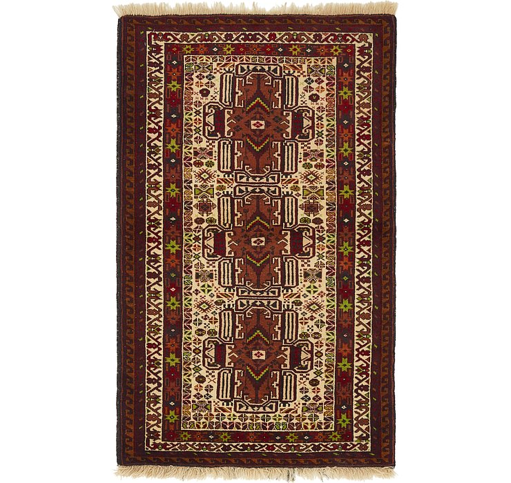 HandKnotted 3' x 4' 10 Balouch Oriental Rug