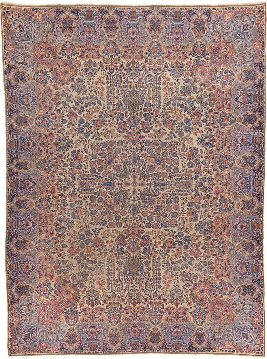 Ivory 8 10 X 11 11 Kerman Persian Rug Persian Rugs