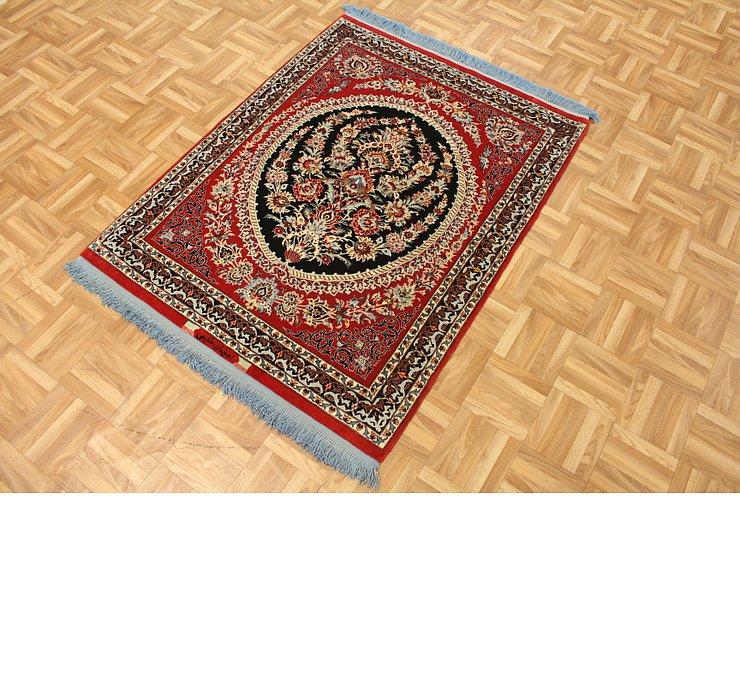 3' 2 x 4' 7 Isfahan Persian Rug