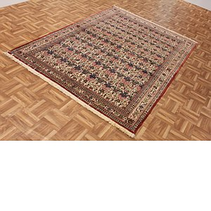 4' 9 x 7' Qom Persian Rug