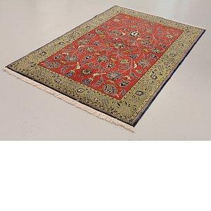 4' 6 x 6' 11 Qom Persian Rug
