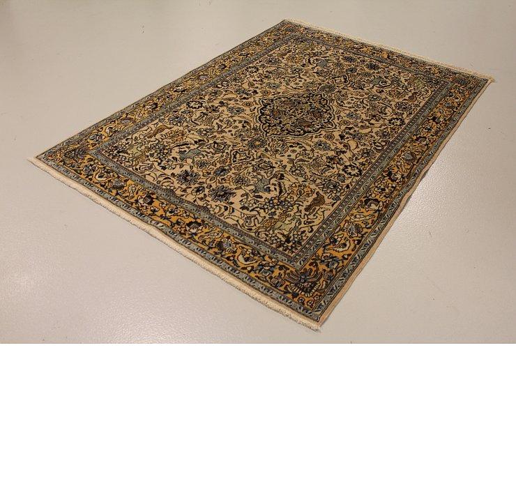 4' 11 x 6' 9 Qom Persian Rug