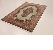 Link to 4' 10 x 7' 3 Qom Persian Rug