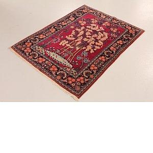 3' 7 x 5' 1 Kashan Persian Rug