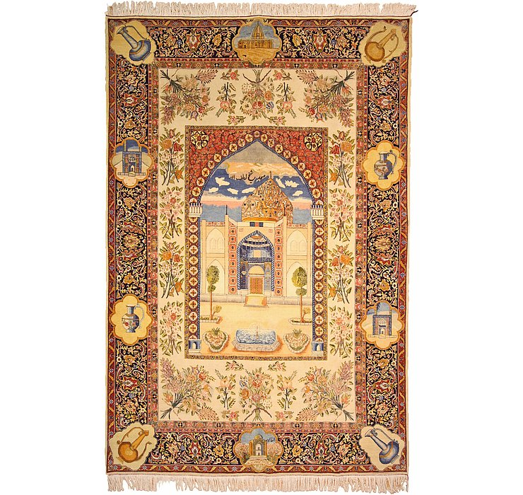 190cm x 285cm Tabriz Persian Rug