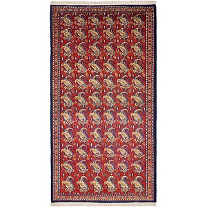 HandKnotted 4' 9 x 9' Yazd Persian Rug