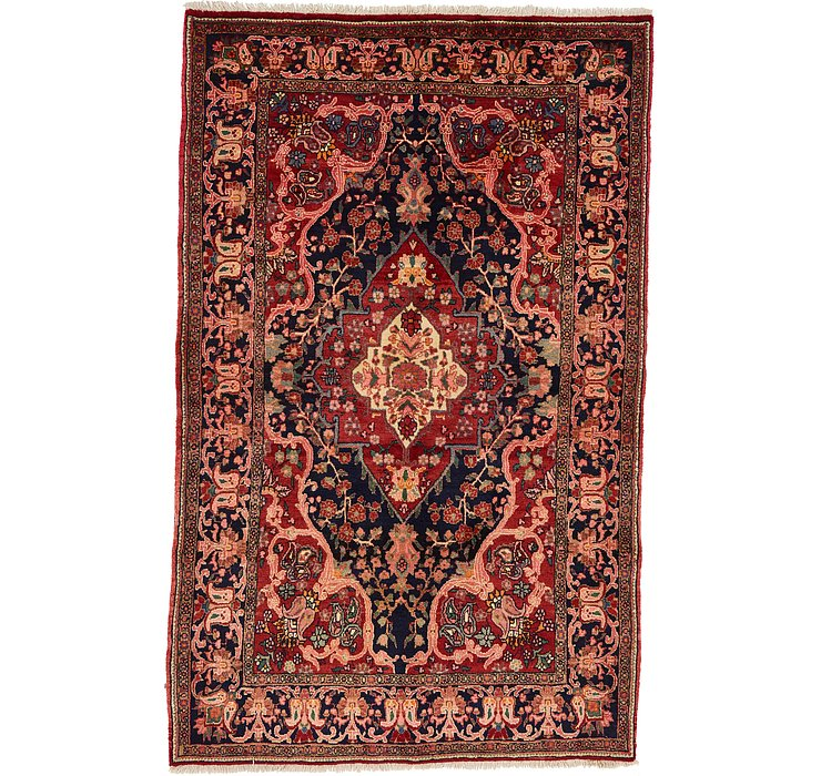 4' 4 x 7' Heriz Persian Rug