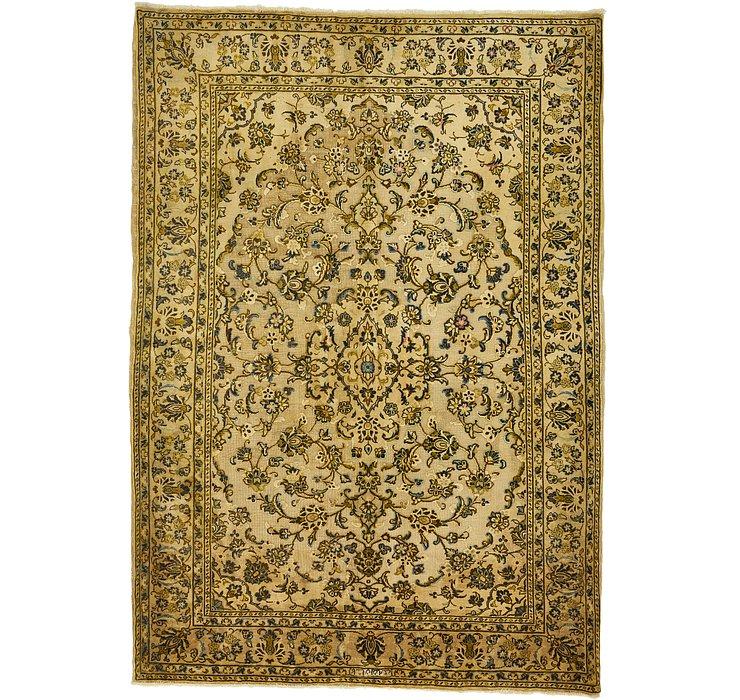 4' 8 x 6' 7 Kashan Persian Rug