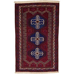 Unique Loom 4' x 6' 4 Balouch Persian Rug