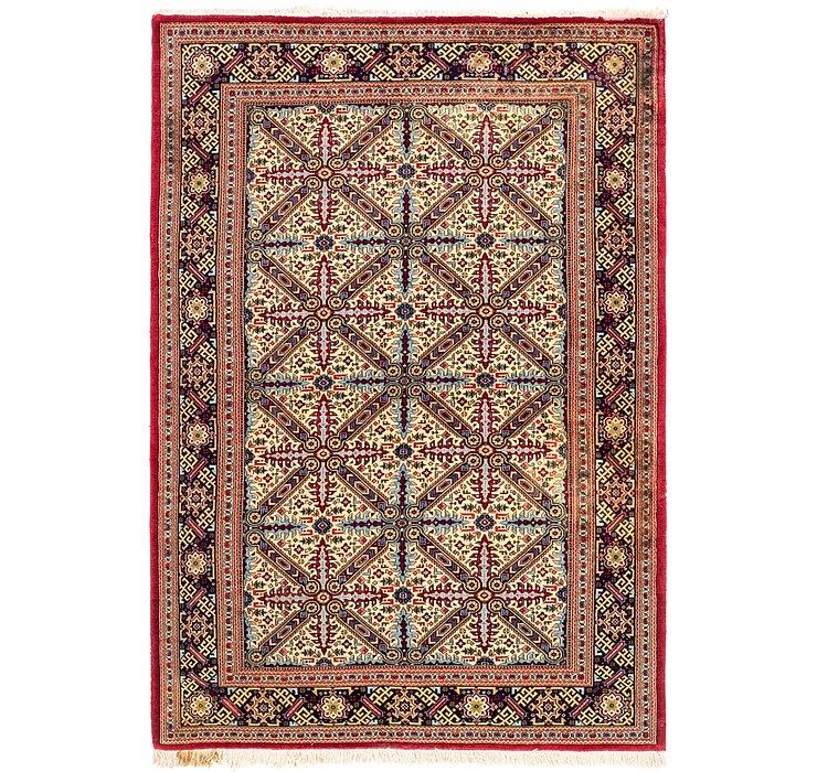 4' 5 x 6' 8 Qom Persian Rug