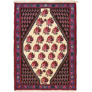 Unique Loom 3' 7 x 4' 11 Shahrbaft Persian Rug