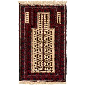 Unique Loom 2' 8 x 4' 4 Balouch Persian Rug
