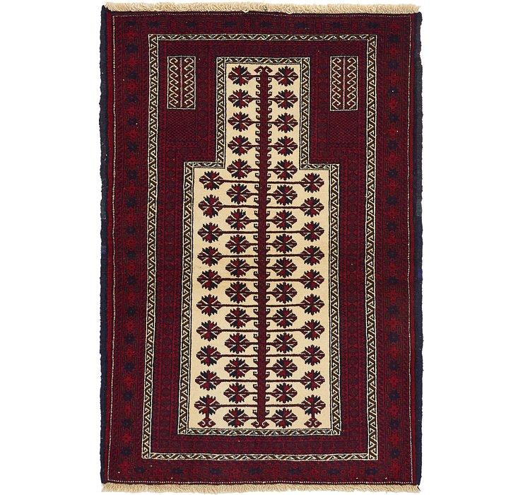 3' 1 x 4' 6 Balouch Persian Rug