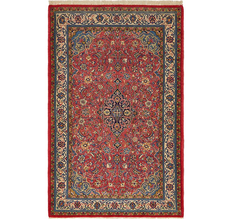 4' 5 x 6' 11 Sarough Persian Rug