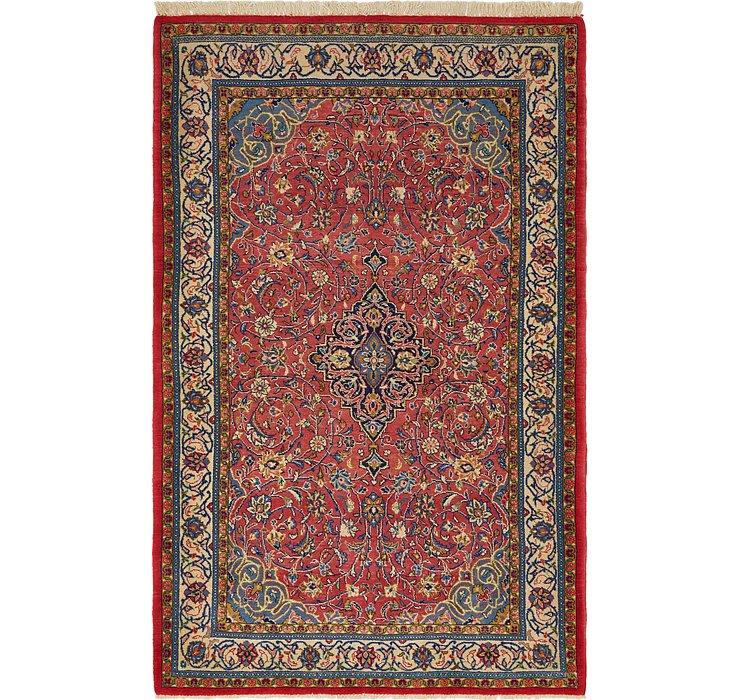 4' 5 x 6' 11 Sarough Persian Rug