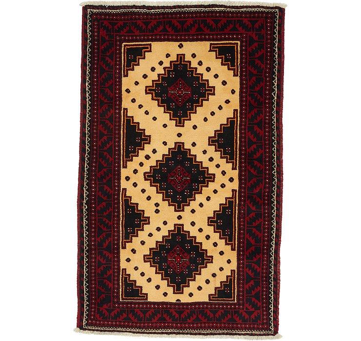 3' 9 x 6' Balouch Persian Rug