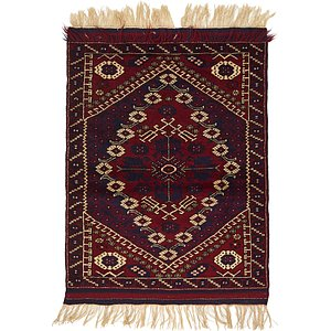 Unique Loom 3' 5 x 4' 7 Balouch Persian Rug