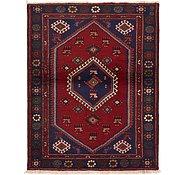 Link to 115cm x 147cm Hamedan Persian Rug