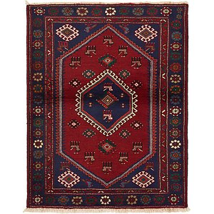 Unique Loom 3' 9 x 4' 10 Hamedan Persian Rug
