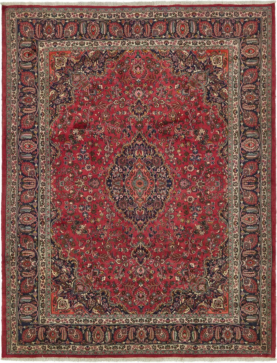 Red 9 10 X 12 8 Mashad Persian Rug Persian Rugs