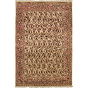 6' 8 x 10' Qom Persian Rug