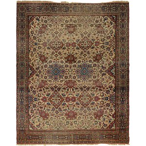 Unique Loom 10' 4 x 13' 8 Sarough Persian Rug