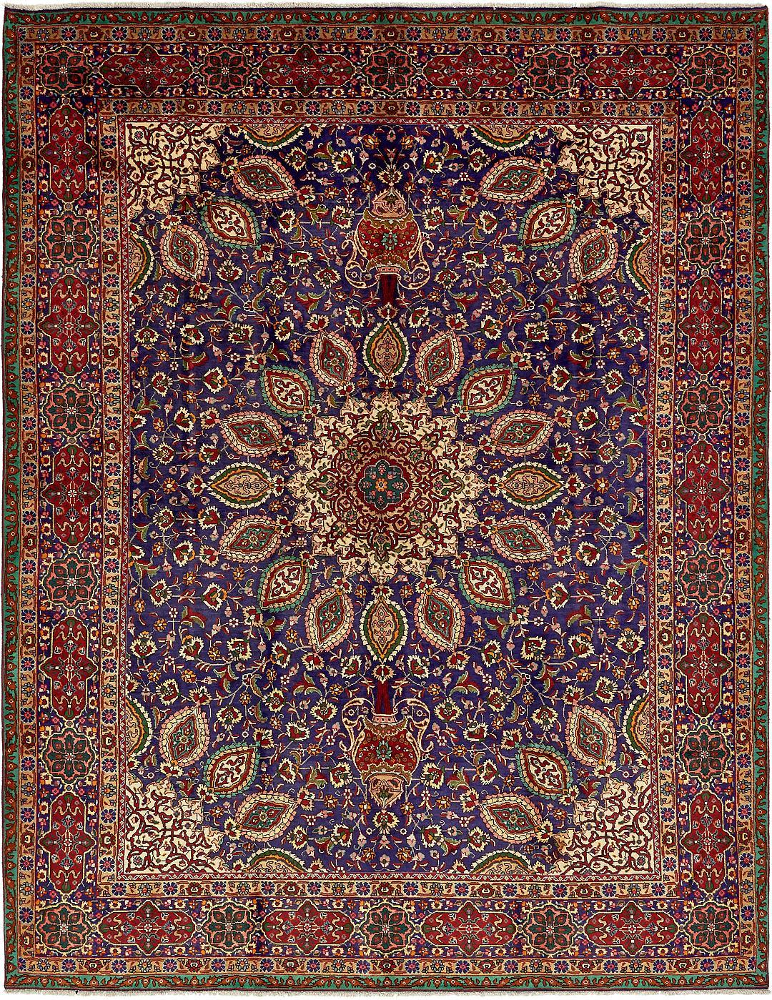 Navy Blue 9 10 X 12 10 Tabriz Persian Rug Persian Rugs