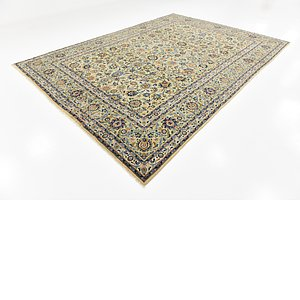 9' 4 x 13' Kashan Persian Rug