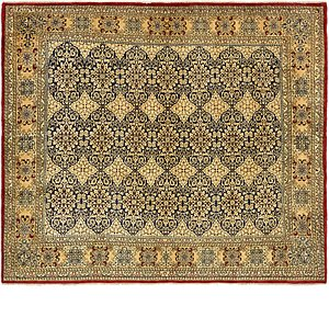 8' 2 x 9' 5 Kerman Persian Square Rug