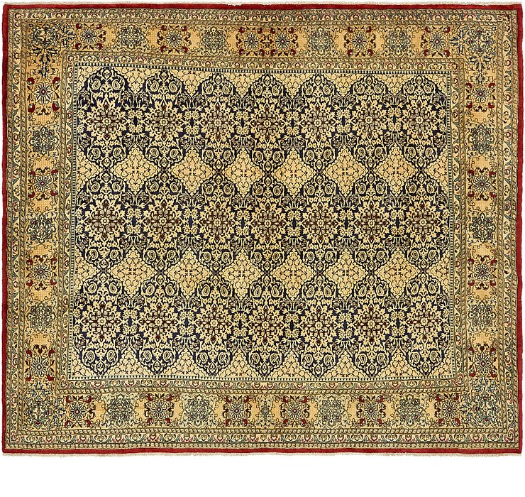 8' 2 x 9' 5 Kerman Persian Square Rug