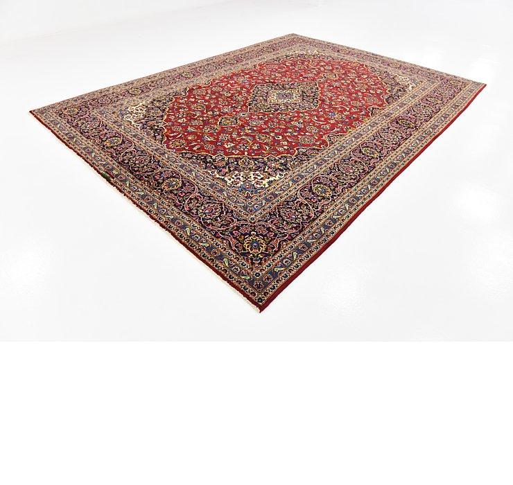 9' x 12' 4 Kashan Persian Rug