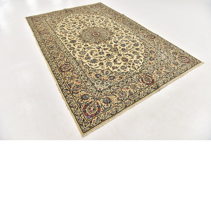 6' 6 x 9' 8 Kashan Persian Rug