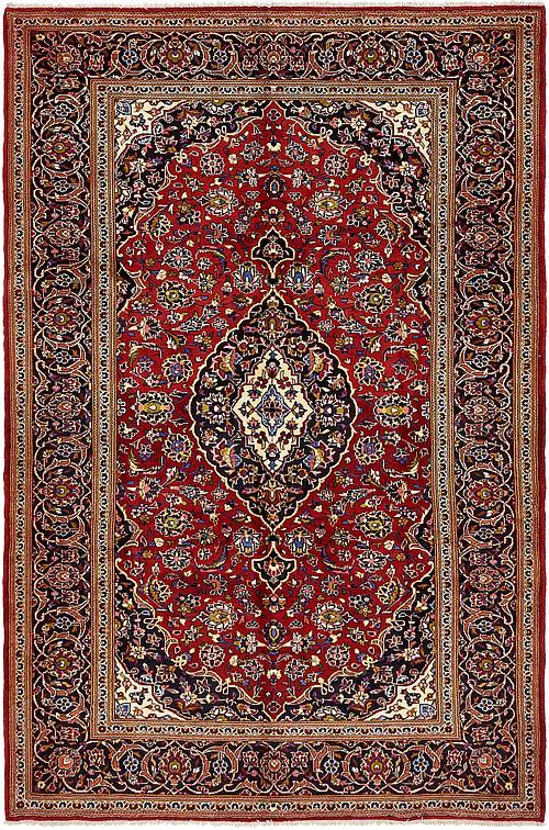 Red 6 10 X 10 3 Kashan Persian Rug Persian Rugs Irugs Uk
