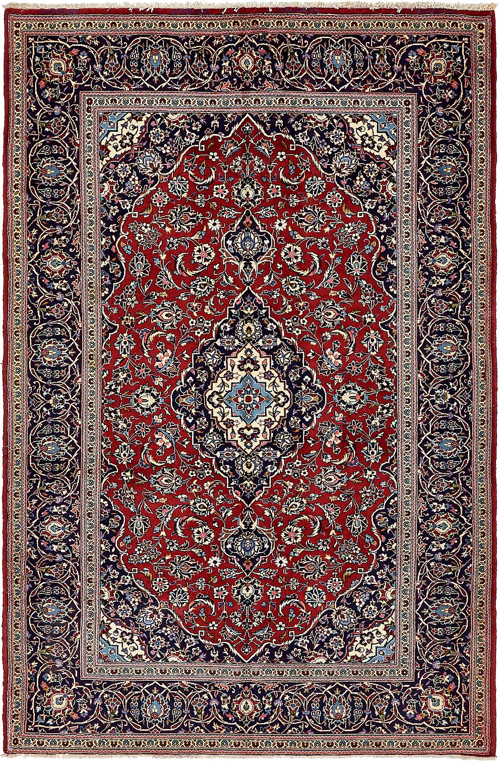 Red 6 7 X 10 Kashan Persian Rug Persian Rugs Handknotted Com