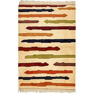 3' 3 x 4' 10 Shiraz-Gabbeh Persian Rug