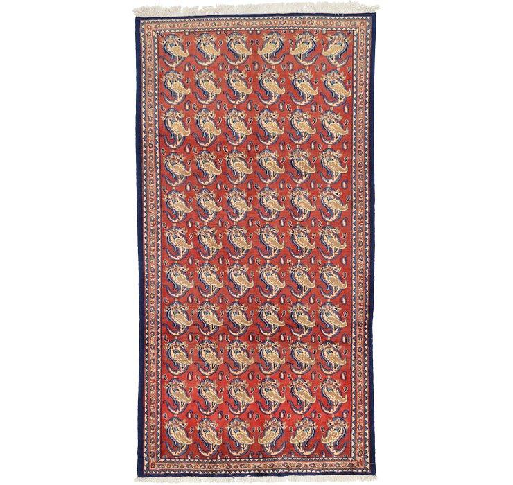 147cm x 282cm Sarough Persian Rug