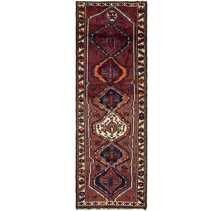 4' 3 x 12' 7 Shiraz Persian Runner Rug