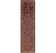 Link to 105cm x 410cm Hossainabad Persian Runner Rug