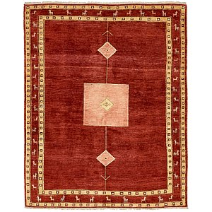 All Squares Red Classic  Rugs!