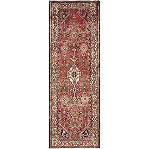 Unique Loom 3' 3 x 9' 10 Hossainabad Persian Run...