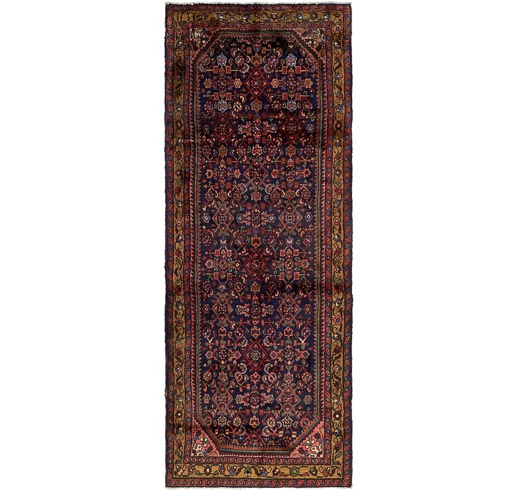 HandKnotted 3' 6 x 9' 5 Hossainabad Persian Run...
